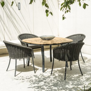 Alexander Rose Cordial Garden Grey 1.2m Dining Set With 4 Armchairs