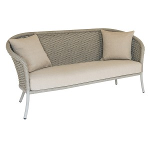 Alexander Rose Cordial Garden Beige 3 Seater Rope Sofa With Cushion