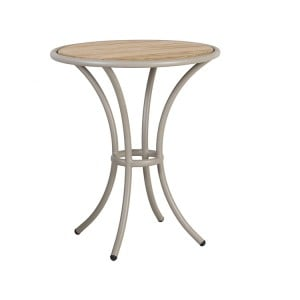 Alexander Rose Cordial Garden Beige Bistro Table With Roble Top