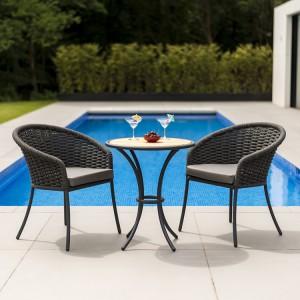Alexander Rose Cordial Garden Grey 2 Seater Roble Bistro Dining Set