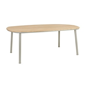 Alexander Rose Cordial Garden Beige 2m Dining Table With Roble Top