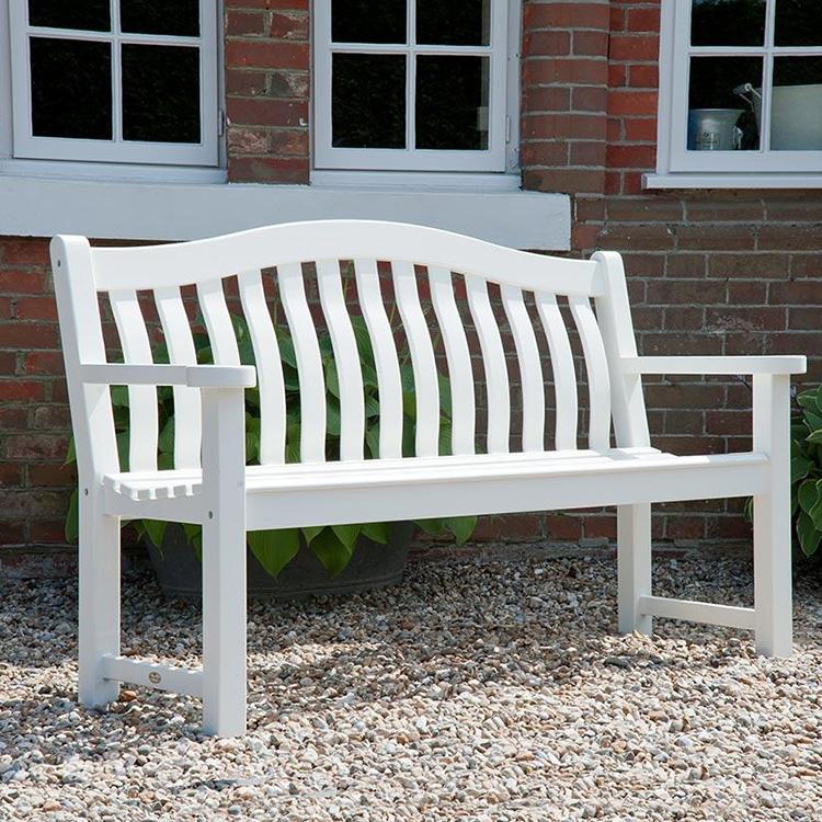 Brilliant Alexander Rose New England Garden White Turnberry Bench 5Ft Forskolin Free Trial Chair Design Images Forskolin Free Trialorg