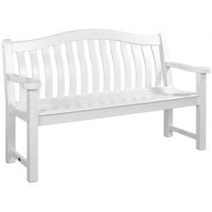 Alexander Rose New England Garden White Turnberry Bench 5ft