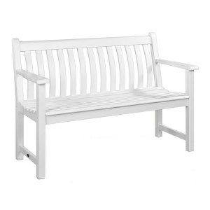 Alexander Rose New England Garden White Broadfield Bench 4ft
