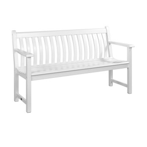 Alexander Rose New England Garden White Broadfield Bench 5ft