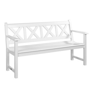 Alexander Rose New England Garden White Drachmann Bench 5ft