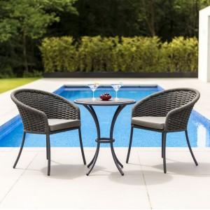 Alexander Rose Cordial Garden Grey 2 Seater Pebble Bistro Dining Set