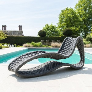 Alexander Rose Cordial Garden Grey Large Weave Sunbed