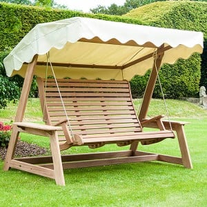 Alexander Rose Garden Furniture Mahogany Swing Seat Ecru