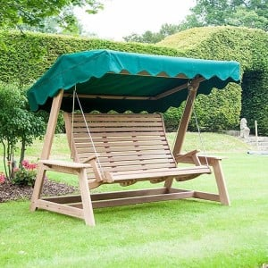 Alexander Rose Garden Furniture Mahogany Swing Seat (Green)