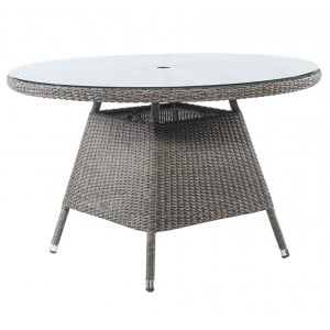Alexander Rose Monte Carlo Rattan Garden 120cm Glass Top Dining Table