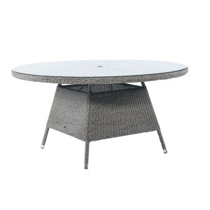 Alexander Rose Monte Carlo Rattan Garden 150cm Glass Top Dining Table