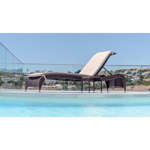 Alexander Rose Ocean Bronze Garden Fiji Sunbed & Sidetable Set