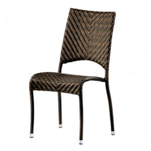 Alexander Rose Ocean Bronze Garden Fiji Stacking Side Chair