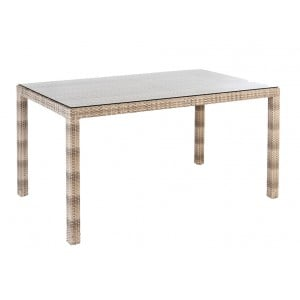 Alexander Rose Ocean Pearl Garden 1.35m Dining Table With Glass Top