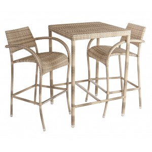 Alexander Rose Ocean Pearl Garden Fiji 2 Seater Bar Set
