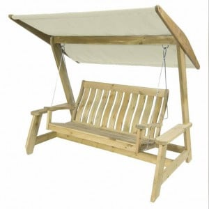 Alexander Rose Pine Garden Farmers Swing Set Ecru