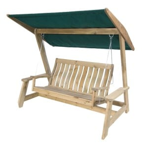Alexander Rose Pine Garden Farmers Swing Set Green