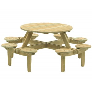 Alexander Rose Pine Garden 8 Seater Gleneagles Table