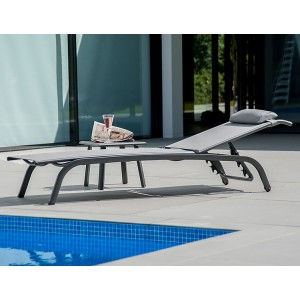 Alexander Rose Portofino Lite Garden Stacking Sunbed & Side Table Set
