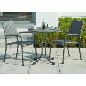 Alexander Rose Portofino Garden 2 Woven Chair Round Bistro Set