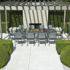 Alexander Rose Portofino Garden Extending Table & 10 Woven Chair Set