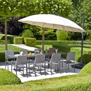 Alexander Rose Portofino Garden Extending Table & 8 Woven Chair Set
