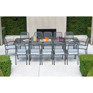 Alexander Rose Portofino Garden Extending Table & 12 Mixed Chair Set