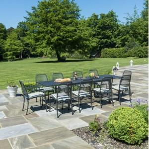 Alexander Rose Portofino Garden Extending Table & 10 Mixed Chair Set
