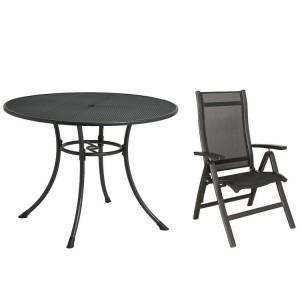 Alexander Rose Portofino Garden 150cm Dining Table & 6 Folding Recliner