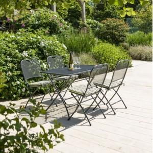 Alexander Rose Portofino Garden Folding Table & 4 Folding Chair Set