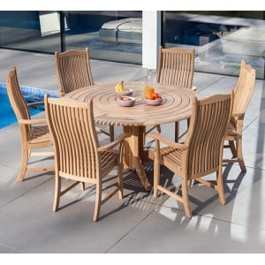 Alexander Rose Roble Garden 6 Bengal Chair & 1.45m Round Table Set