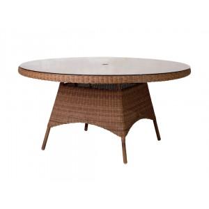 Alexander Rose San Marino Round Weave Garden 150cm Glass Top Table