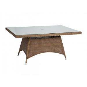Alexander Rose San Marino Round Weave Garden 160cm Glass Top Table
