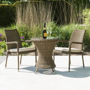 Alexander Rose San Marino Bistro Dining Set With 2 Stacking Armchairs