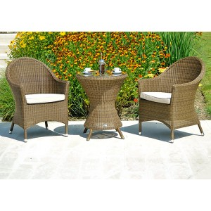 Alexander Rose San Marino Bistro Dining Set With 2 Curved Top Armchairs