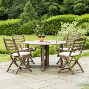 Alexander Rose Sherwood Acacia Garden 4 Seater Gateleg Dining Set