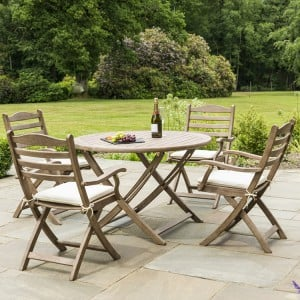 Alexander Rose Sherwood Acacia Garden 4 Seater Folding Dining Set