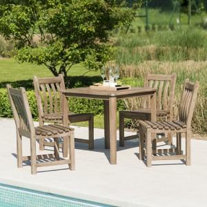 Alexander Rose Sherwood Acacia Garden 4 Seater Square Dining Set