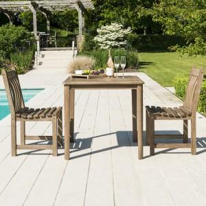 Alexander Rose Sherwood Acacia Garden 2 Seater Square Dining Set