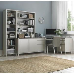 Bentley Designs Bergen Soft Grey Corner Office Desk Package
