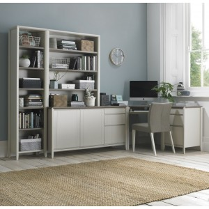 Bentley Designs Bergen Soft Grey Corner Office Desk Package - PRE ORDER