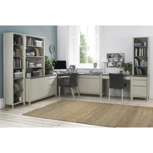 Bentley Designs Bergen Soft Grey Double Office Desk Package - PRE ORDER