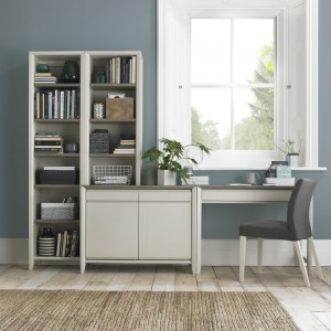 Bentley Designs Bergen Soft Grey Office Desk Package