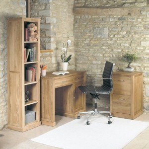 Mobel Solid Oak Furniture Small Office Desk Package