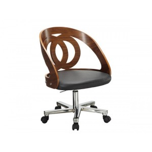 Jual Curve Furniture Walnut Office Chair PC606