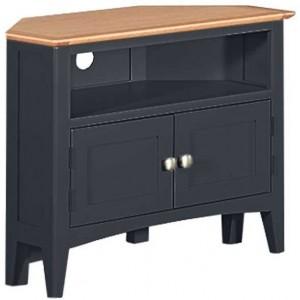 Alfriston Blue Painted Furniture Corner TV Unit