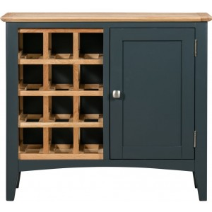 Alfriston Blue Painted Furniture Wine Cabinet