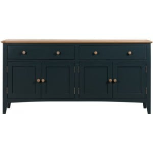 Alfriston Blue Painted Furniture 4 Door Sideboard