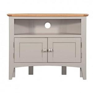 Alfriston Grey Painted Furniture Corner TV Unit